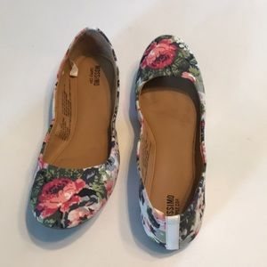 Mossimo Supply Co. Floral Flats Sz 7 VGUC